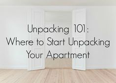 Making moving easier! Tips, tricks and advice for unpacking and settling into a new place. Plus our checklist for your first night box.