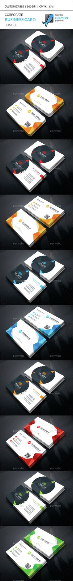 Corporate Business Card Bundle — Vector EPS #artistic #symple • Available here → https://graphicriver.net/item/corporate-business-card-bundle/14914476?ref=pxcr