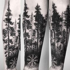 "426 Likes, 1 Comments - Ela Pour (@elapour) on Instagram: ""#forest #foresttattoo #tree #treetattoo #onlyblackart #blackworkers #blacktattooart…"""