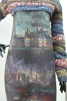 Платья ручной работы. Ярмарка Мастеров - ручная работа Валяное платье Старый замок Brown. Handmade.
