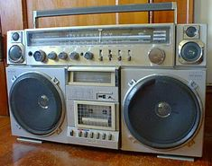 Not exactly the one I had, but mine was pretty similar looking.... Even seen this photo now, brings back the memories of how excited I felt when my parents bought me my first boombox in 1985.