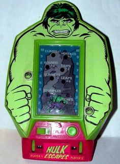 $39.95 - 1978 The Incredible Hulk Escapes by Bandai (Vintage Electronic LED Hand-Held Game)