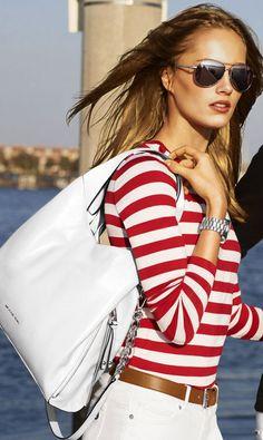 4f44f03d0c Michael Kors bag Mk Bags, Nautical Style, Nautical Fashion, Nautical  Clothing, Nautical