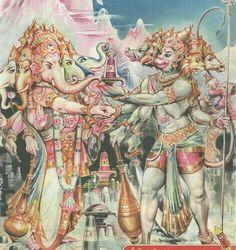 Panchmukhi Ganesh and Panchmukhi Hanuman.