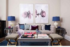 Natalie Morales Living Room Makeover #cushions