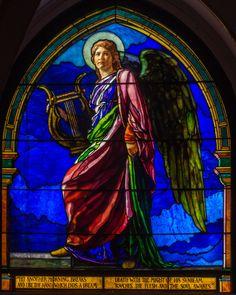 1897 The Angel Holding a Lyre  La Farge, John, 1835-1910 Emmanuel Episcopal Church, West Roxbury, MA