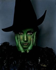 Idina Menzel as Elphaba in Wicked.