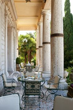 Villa Cortine Palace Hotel - lovely place to sit in the evening before dinner.