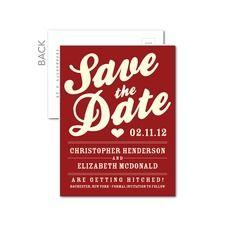 Heartfelt Handbill Save the Date Postcards