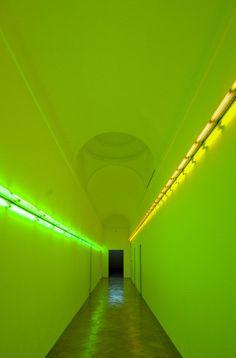 Dan Flavin, Photo by AndreaWilla. Light art installation