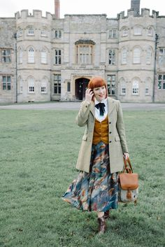 fef69360115f3 Tweed coat from Great Scot and silk skirt from House of Bruar English Style  Fashion
