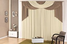 cortina londres quarto sala 4,00x2,80 p varão avelã palha Stage Curtains, Home Curtains, Window Drapes, Curtains With Blinds, Luxury Curtains, Elegant Curtains, Living Room Remodel, Living Room Decor, Bedroom Decor