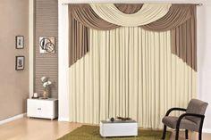 cortina londres quarto sala 4,00x2,80 p varão avelã palha