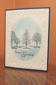 Stampin Up Lovely as a Tree Christmas Card