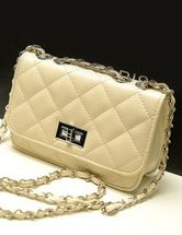 White Quilted PU Leather Chic Shoulder Bag. Enjoy thrilling discounts up to 70% Off at Milanoo using Coupon Codes & Promo Codes.