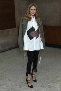 olivia palermo at the front row in London fashion week