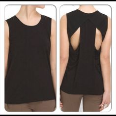 Black Draped Top Cut25 By Yigal Azrouel Medium Nwt Draped Racerback Top, rounded Neckline, slip on. Rayon/Spandex, Combo: Polyester. Size Medium Nwt Cut25 by Yigal Azrouel Tops
