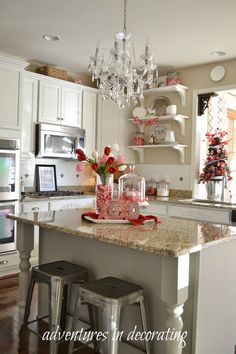 Greetings, friends!     Today, I wanted to share a few more pops of red that I recently added for Valentine's Day. Do you decorate for the...
