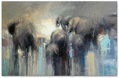 One of my favorite artists! Mazithi Elephants. by Peter G Hall, via Flickr