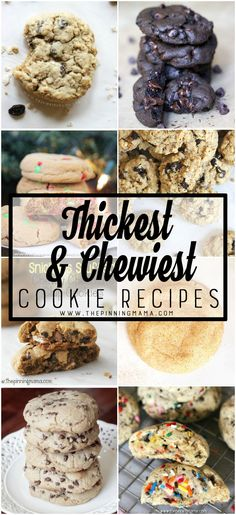 A collection of soft, thick and chewy cookie recipes from The Pinning Mama. It all started with the search for the perfect chocolate chip cookie. I kind of love cookies and admittedly, it was an o…