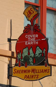 Classic Sherwin-Williams sign, Titusville, Florida Roadside Signs, Roadside Attractions, Advertising Signs, Vintage Advertisements, Signs Of Life, Vintage Signs, Antique Signs, Sherwin William Paint, Great Ads