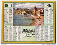 calendrier 1951