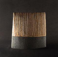 Lichen/Black Wedge Form Wedge, Surface, Sculpture, Ceramics, Texture, Black, Ceramica, Surface Finish, Platform