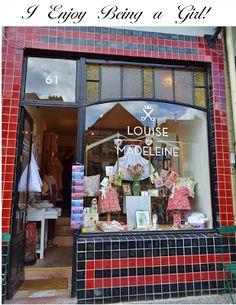 What appeals to women.  Shopping in Gent, Belgium.