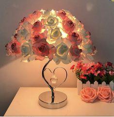 Amazing Decor, Led Night Light, Night Lights, Night Lamps, Bedside Lamp, Home Wedding, Rose Bouquet, Rose Petals, Warm Colors