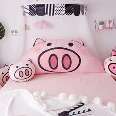 Lovely Pink Pig Cushion - Bed Cushion - Piggy Cuddle Pillow - Unique Gifts For Farmers Bed Cushions, Throw Pillows, Cushion Pillow, Cuddle Pillow, Pig Crafts, Gifts For Farmers, Cute Pigs, Pink Bedding, Kids Room