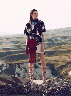 Patrycja Gardygajlo Dons Nomadic Fashion in Vogue Turkey by Emre Guven