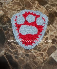 Dog Paw Badge Crochet Pattern   Paw Patrol Badge-             See The Video on my Youtube Channel at this LINK       Dog Paw Badge Crochet ...