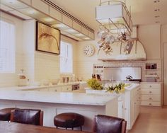 pot racks, decorating kitchen, light fixtur, design kitchen, kitchen design