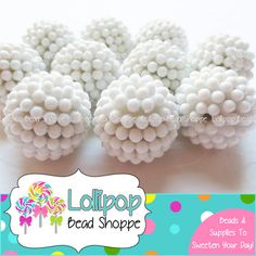 Hey, I found this really awesome Etsy listing at https://www.etsy.com/listing/161288923/berry-beads-20mm-beads-white-raspberry