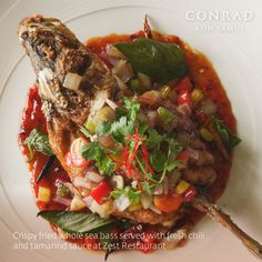 Throughout May 2017 at Zest restaurant, Chef Amporn presents one of his signature Thai dishes featuring the ingredient of the month; #Chili. Try the crispy fried whole #seabass with fresh chili and tamarind sauce, served with jasmine rice. #ConradKohSamui #EatDrinkHilton #LocalProduce #Hilton
