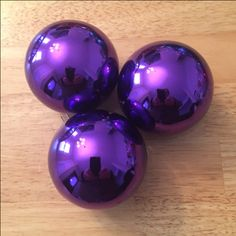 Purple Colored Ball Ornaments | glass - 2 5/8 in. | 8 ornaments | Krebs Royal Lilac | Bought at Seasonal Specialty Shops | probably won't use again (not in color scheme)
