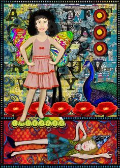 "ATC: The Dreamer. Courtney's Digiscrappin and Outside The Box Design Studio have teamed up to create ""Big Ideas Artistic Alliance""  perfect for journaling your big ideas, available in the Outside The Box Design Studio Shoppe.  TFL!"