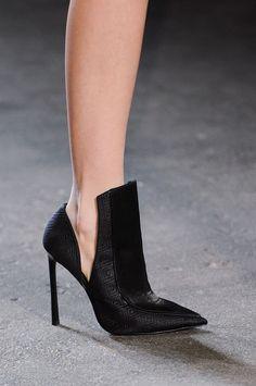 Pointed black stiletto at Christian Siriano Fall 2014