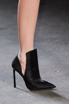 Pointed black stiletto at Christian Siriano Fall 2014
