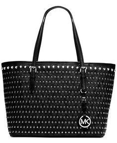 MICHAEL Michael Kors Handbag, Jet Set Travel Small Stud Tote