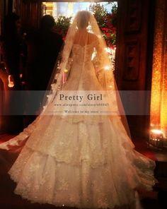 Vestido De Noiva Fashion Stunning Luxury Beading Lace Long Sleeve Wedding Dresses 2015 Casamento Romantic Lace Wedding Gown Sexy
