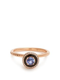 Diamond String 18K Blackened Gold Ring NSR Nina Runsdorf J7VWbL