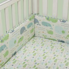 MiGi Crib Sheet, Little Whales by MiGi