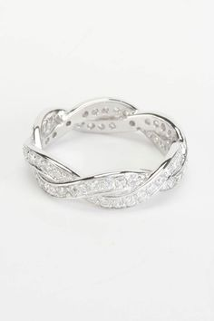 Silver & Co Link Cubic Zirconia Ring In Clear