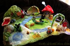 wonderful how to -  130408 Nunu's first wet-felted playscape overview photo