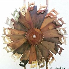 Hard-working awesome metal welding projects go to this website Welding Art Projects, Metal Art Projects, Metal Crafts, Metal Yard Art, Scrap Metal Art, Garden Crafts, Garden Art, Garden Planters, Junk Art
