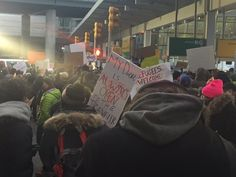 #Media #Oligarchs #MegaBanks vs #Union #Occupy #BLM #Humanity  Protest at #jfkterminal4 growing. Come join! #RefugeesWelcome #NoMuslimBanJFK   https://twitter.com/ACLU/status/825462190090158080