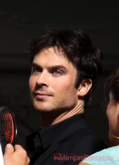 Ian Somerhalder with my favorite look - short hair and slight 5 o'clock shadow - all to feature that sweet smile and amazing eyes