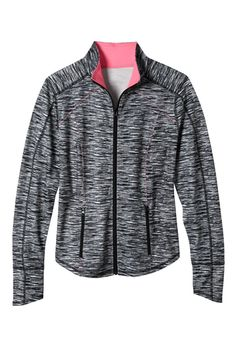 plus size zip front spacedye performance jacket (original price, $69) available at #Maurices