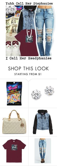 """"" by loyalnene ❤ liked on Polyvore featuring Kenneth Jay Lane, Michael Kors, H&M, Boohoo, BERRICLE and NIKE"